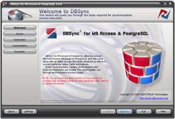 Capture d'écran DBSync for MS Access & PostgreSQL