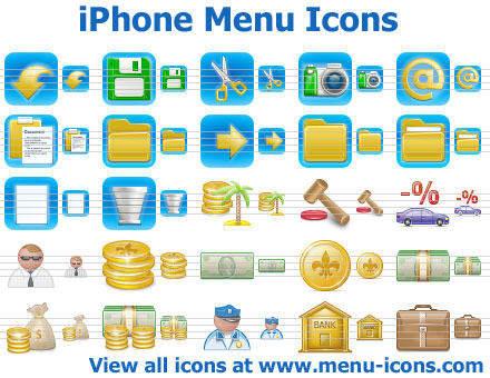 Capture d'écran iPhone Menu Icons