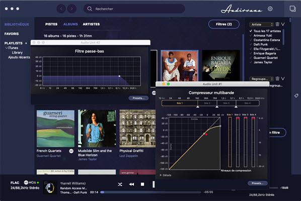 Capture d'écran Audirvana Mac