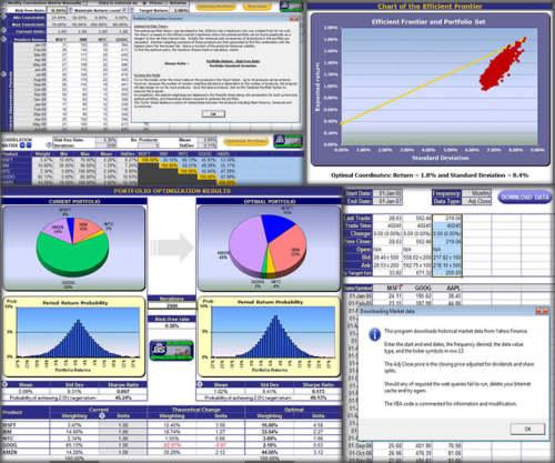 Capture d'écran Optimisation du portfolio