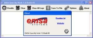 Capture d'écran Emsa Save My Work