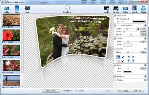 Capture d'écran 3D Thumbnail Generator