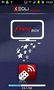 Capture d'écran Keoli Remote FreeBox