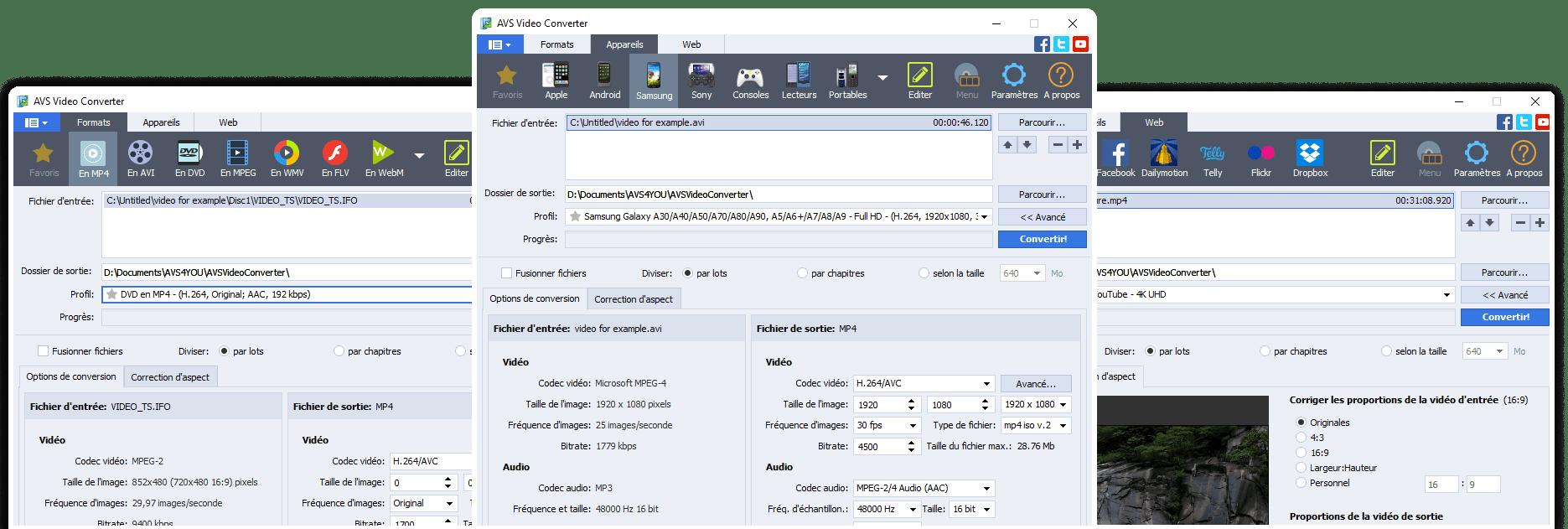 Capture d'écran AVS Video Converter