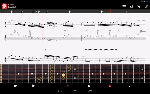 Capture d'écran Guitar Pro Mobile