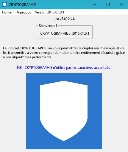 Capture d'écran Cryptographie 2016