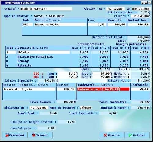 Capture d'écran EasyPaye © Assemple