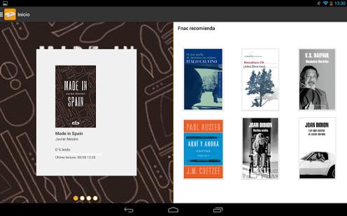Capture d'écran Fnac ebooks