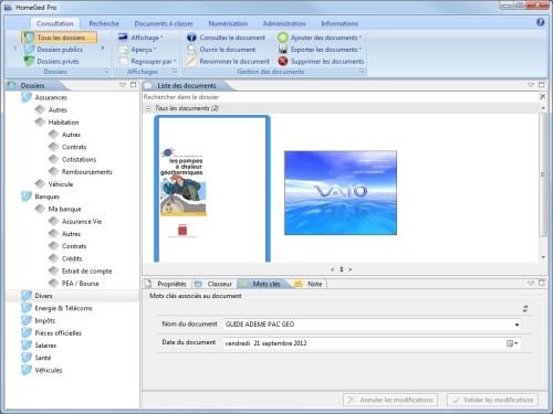 Capture d'écran HomeGed Pro