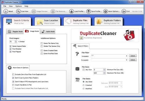 Capture d'écran Duplicate Cleaner
