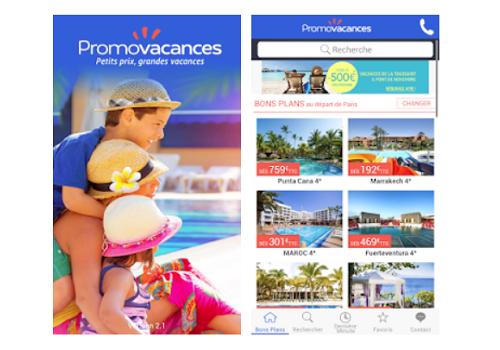 Capture d'écran Promovacances Voyage et Séjour