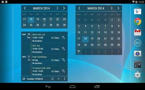 Capture d'écran Calendrier Widget