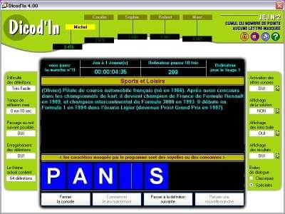 Capture d'écran Dicod'In