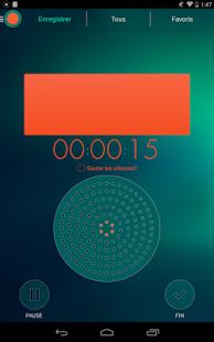 Capture d'écran Enregistreur audio automatique