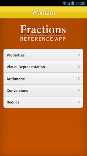 Capture d'écran Fractions Reference App