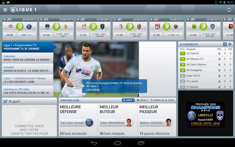 Capture d'écran LFP iOS