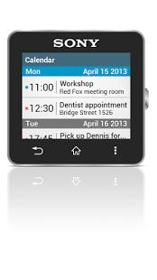 Capture d'écran Calendar Smart extension