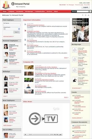 Capture d'écran Bitrix Intranet Portal
