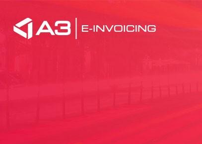 Capture d'écran A3 E-INVOICING