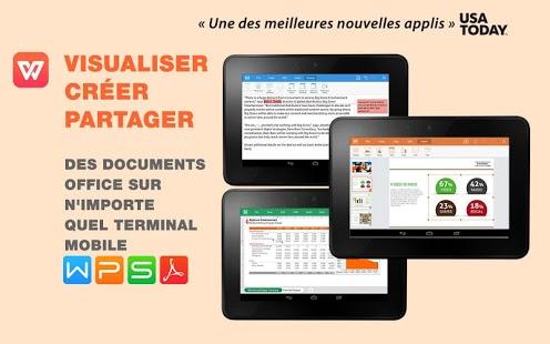 Capture d'écran WPS Office: PPT, DOC, XLS, PDF