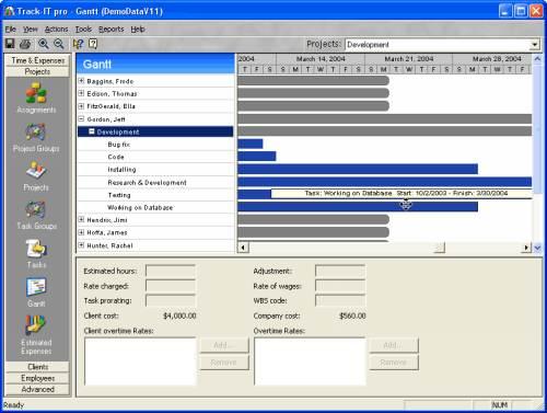 Capture d'écran Track-IT Suite