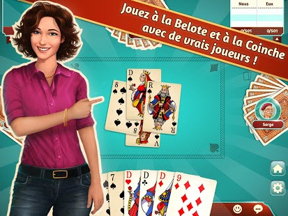 Capture d'écran Belote.com – Coinche
