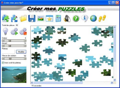 Capture d'écran Creer mes puzzles