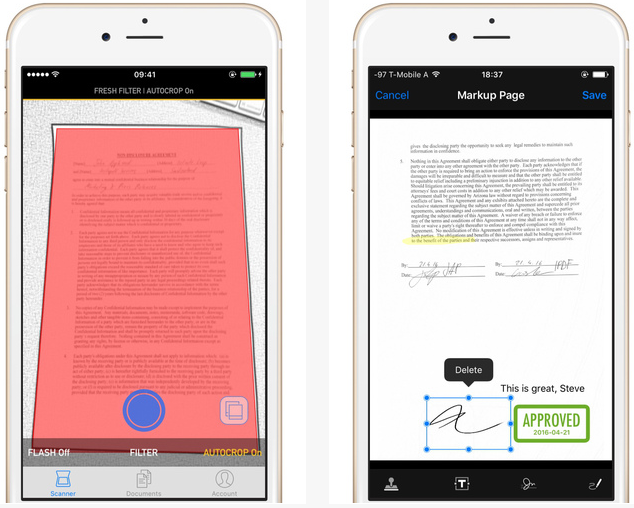 Capture d'écran InstaPDF – iOS