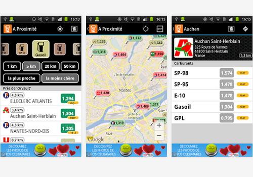 Capture d'écran Essence Comparateur Carburant Android