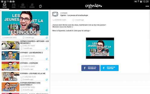 Capture d'écran Cyprien