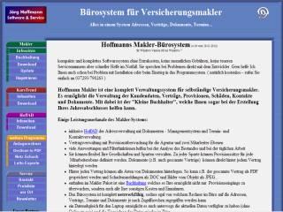 Capture d'écran Hoffmann Makler Bürosystem