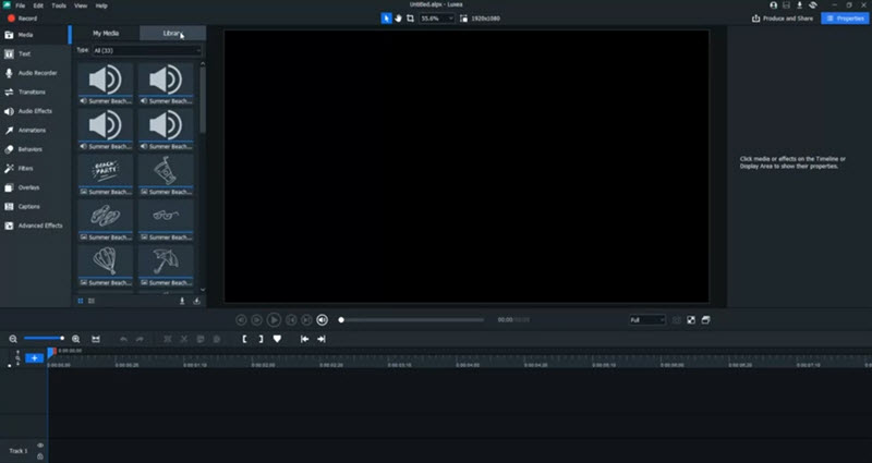 Capture d'écran Luxea Video Editor