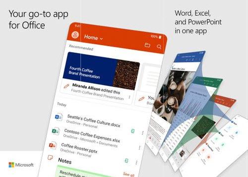 Capture d'écran Microsoft Office Android