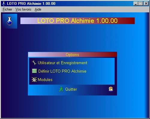 Capture d'écran LOTO PRO Alchimie