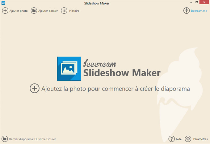 Capture d'écran Icecream Slideshow Maker 3.45