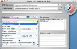 Capture d'écran Eltima SWF to FLA Converter