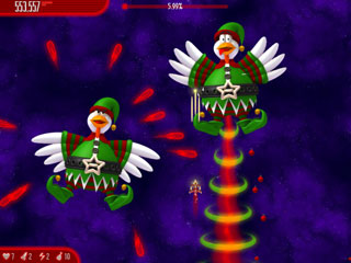 Capture d'écran Chicken Invaders 4 Xmas