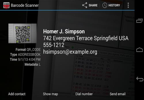 Capture d'écran Barcode Scanner Android