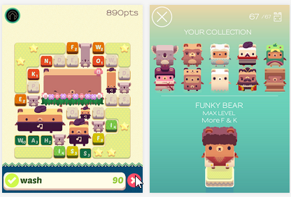 Capture d'écran Alphabear iOS