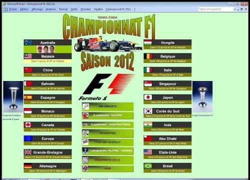 Capture d'écran Championnat F1 2012