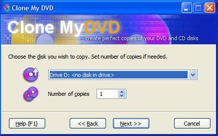 Capture d'écran Clone My DVD