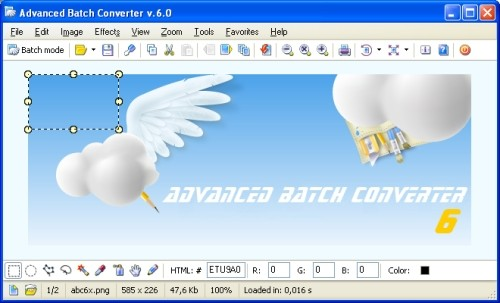 Capture d'écran Advanced Batch Converter