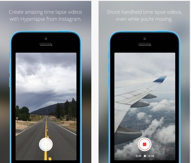 Capture d'écran Hyperlapse iOS