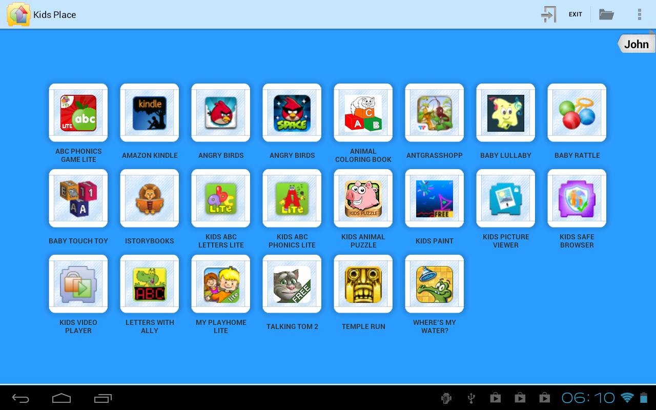 Capture d'écran Kids Place Android