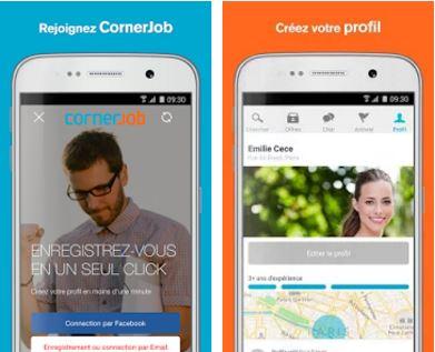 Capture d'écran CornerJob Android