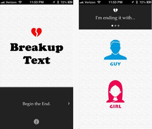 Capture d'écran BreakupText iOS