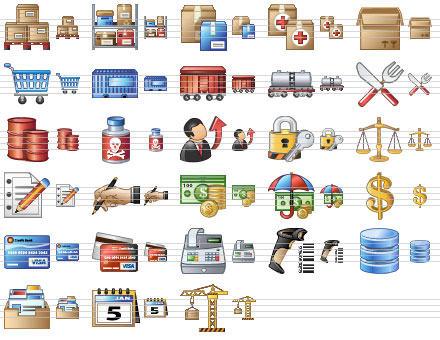 Capture d'écran Large Logistics Icons