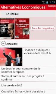 Capture d'écran Alternatives Economiques.fr