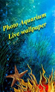 Capture d'écran Photo Aquarium Live Wallpaper