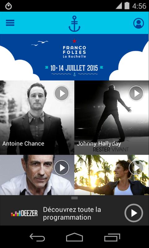 Capture d'écran Les Francofolies de La Rochelle Android